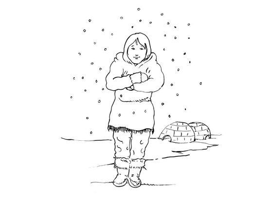 Coloriage petite fille inuit 10 coloriage enfants filles - Coloriage personnage fille ...