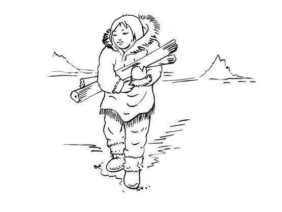 Coloriage petite fille inuit 14 coloriage enfants filles - Coloriage personnage fille ...