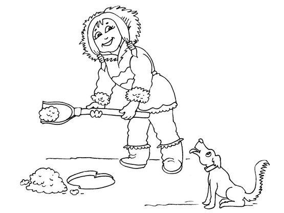 Coloriage petite fille inuit 17 coloriage enfants filles - Coloriage personnage fille ...