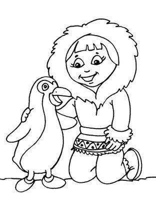 Coloriage petite fille inuit 21 coloriage enfants filles - Coloriage personnage fille ...