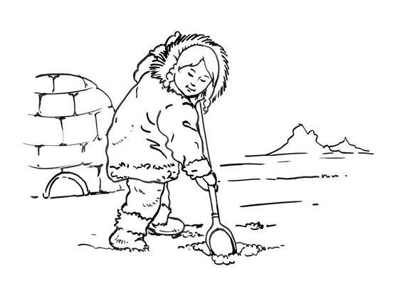 Coloriage petite fille inuit 3 coloriage enfants filles - Coloriage personnage fille ...