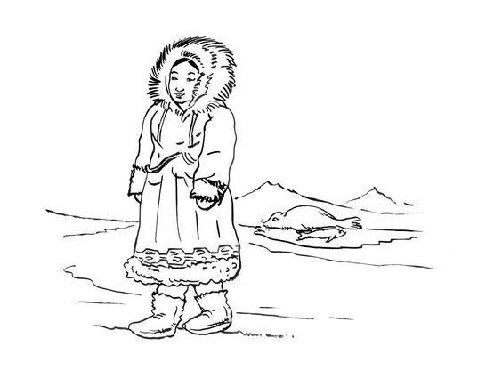 Coloriage petite fille inuit 5 coloriage enfants filles - Coloriage personnage fille ...
