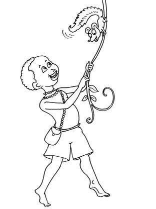 Coloriage petit africain 19 coloriage enfants garcons - Coloriage enfant garcon ...
