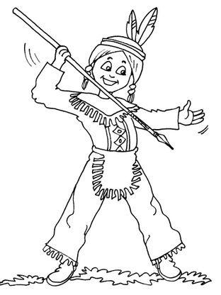 Coloriage petit indien 19 coloriage enfants garcons indien coloriages personnages - Indien coloriage ...