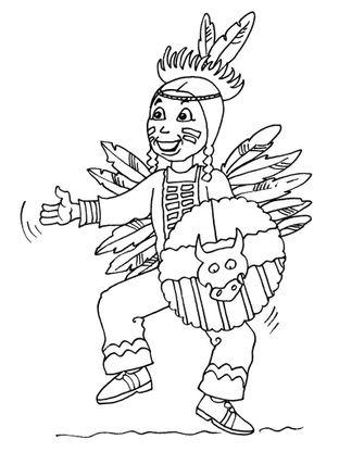 Coloriage petit indien 25 coloriage enfants garcons indien coloriages personnages - Indien coloriage ...