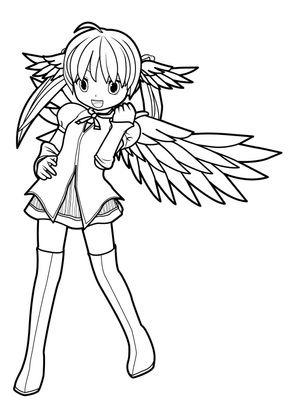 Coloriage manga 16 coloriage mangas coloriages personnages - Coloriage personnages ...