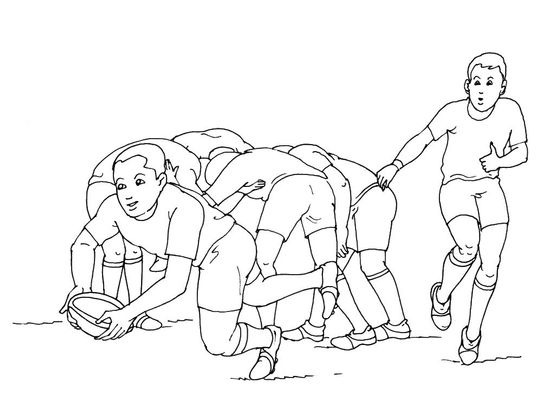 Coloriage rugby 12 coloriage rugby coloriages sports - Dessin de joueur de rugby ...