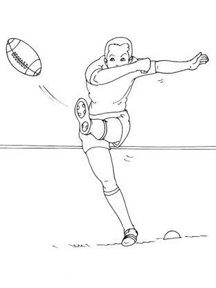 Coloriage rugby 14 coloriage rugby coloriages sports - Dessin de joueur de rugby ...