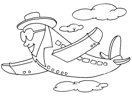 Coloriage Dans L Avion: Coloriages Transports