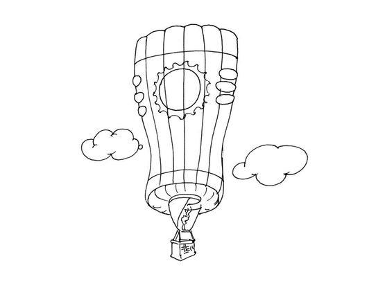Coloriage ballon dirigeable 2 coloriage ballons - Ballon coloriage ...