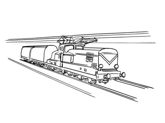 Coloriage train 10 coloriage trains coloriages transports - Train coloriage ...