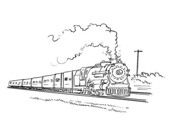 Coloriage train 6 coloriage trains coloriages transports - Coloriage train a vapeur ...