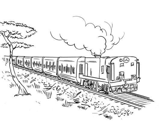 Coloriage train 8 coloriage trains coloriages transports - Coloriage train a vapeur ...
