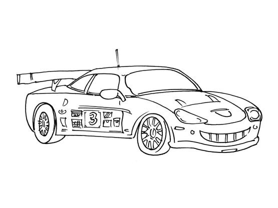 Coloriage voiture 7 coloriage voitures coloriages transports - Cars coloriage voitures ...