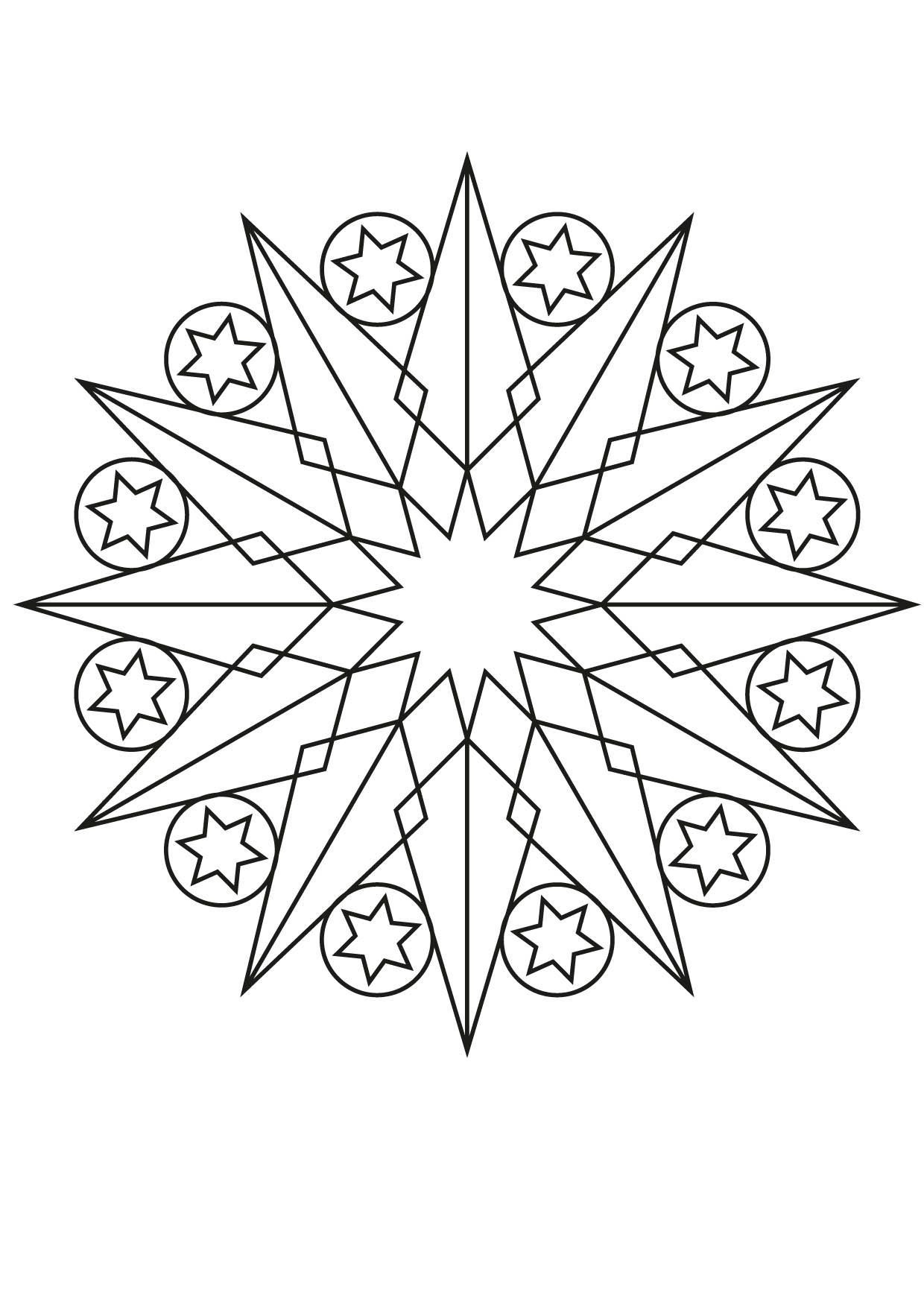 Coloriage Mandala Etoile 2 Coloriage Mandalas Coloriages