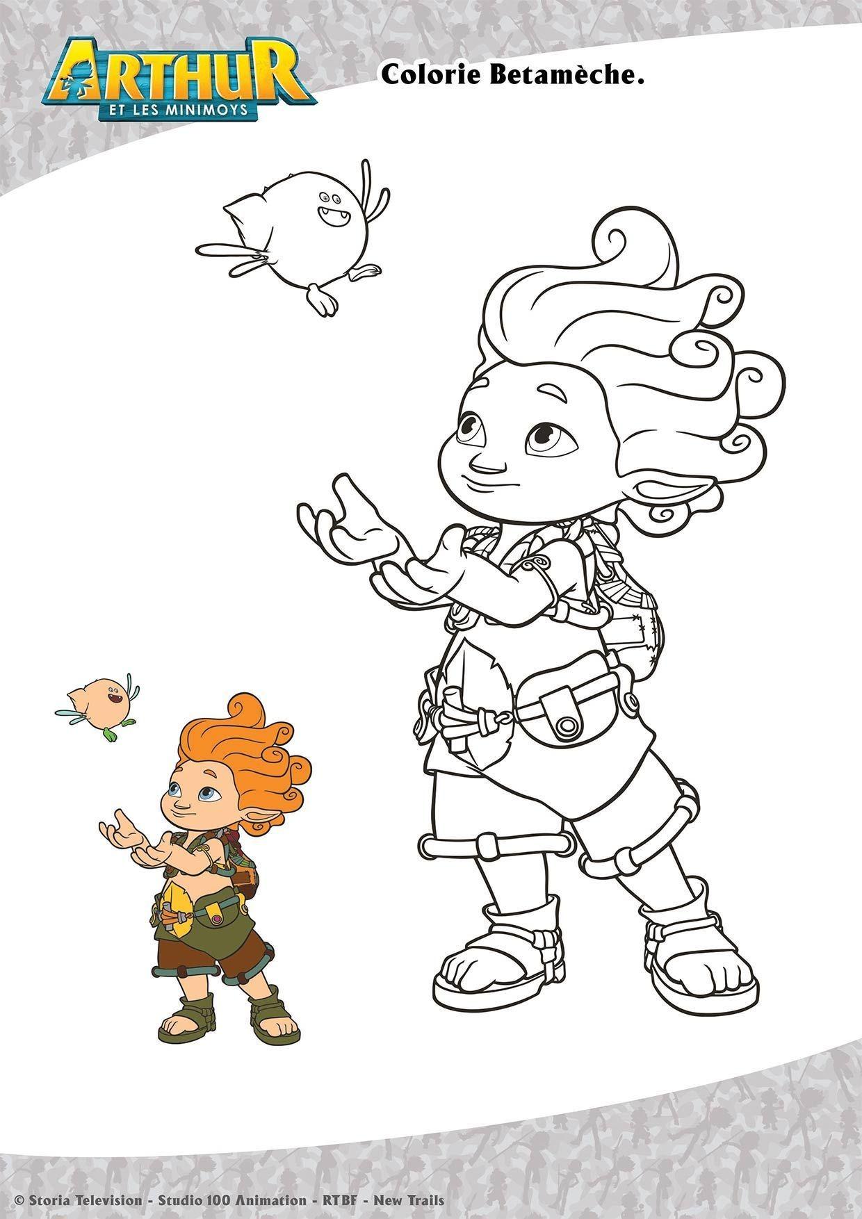 Coloriage Betameche Coloriage Arthur Et Les Minimoys Coloriages Dessins Animes
