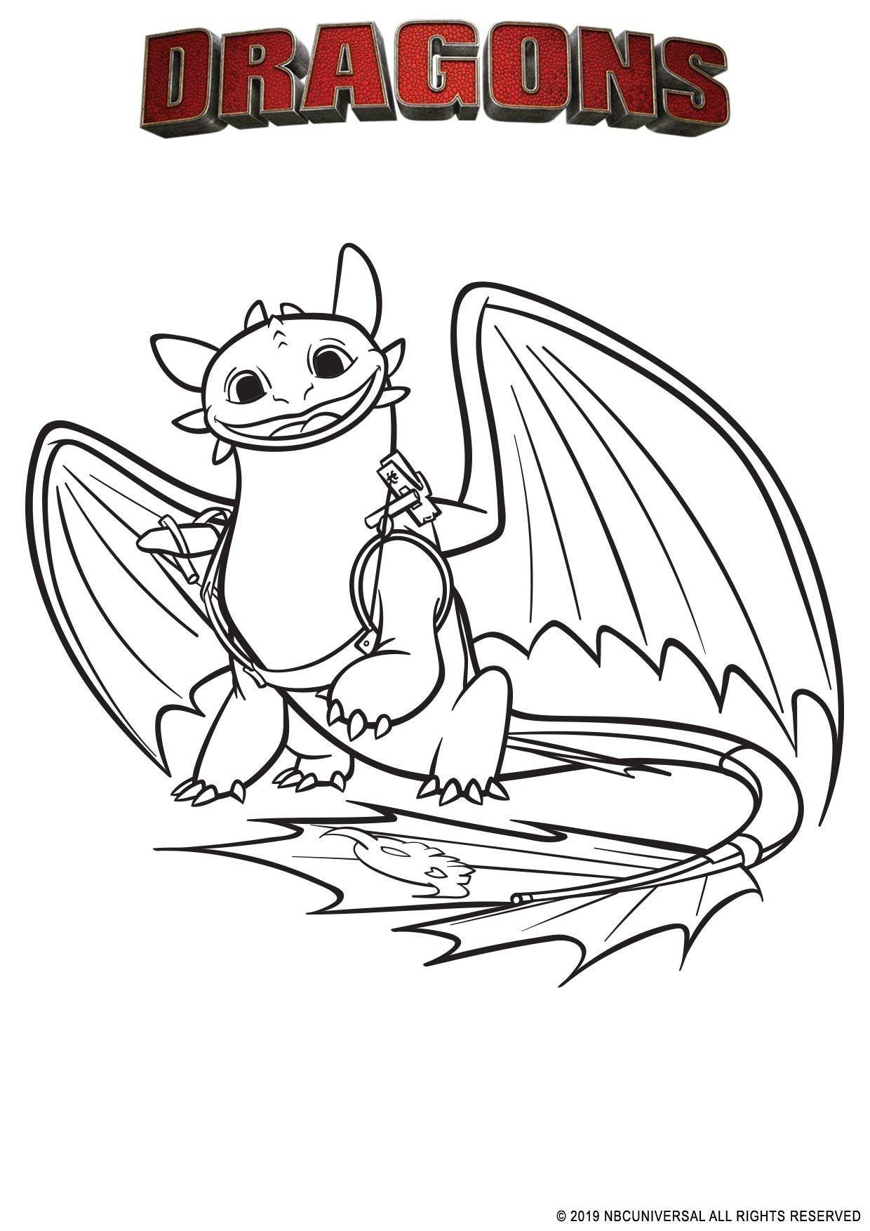 Coloriage Krokmou   Coloriage Dragons Par dela les rives ...
