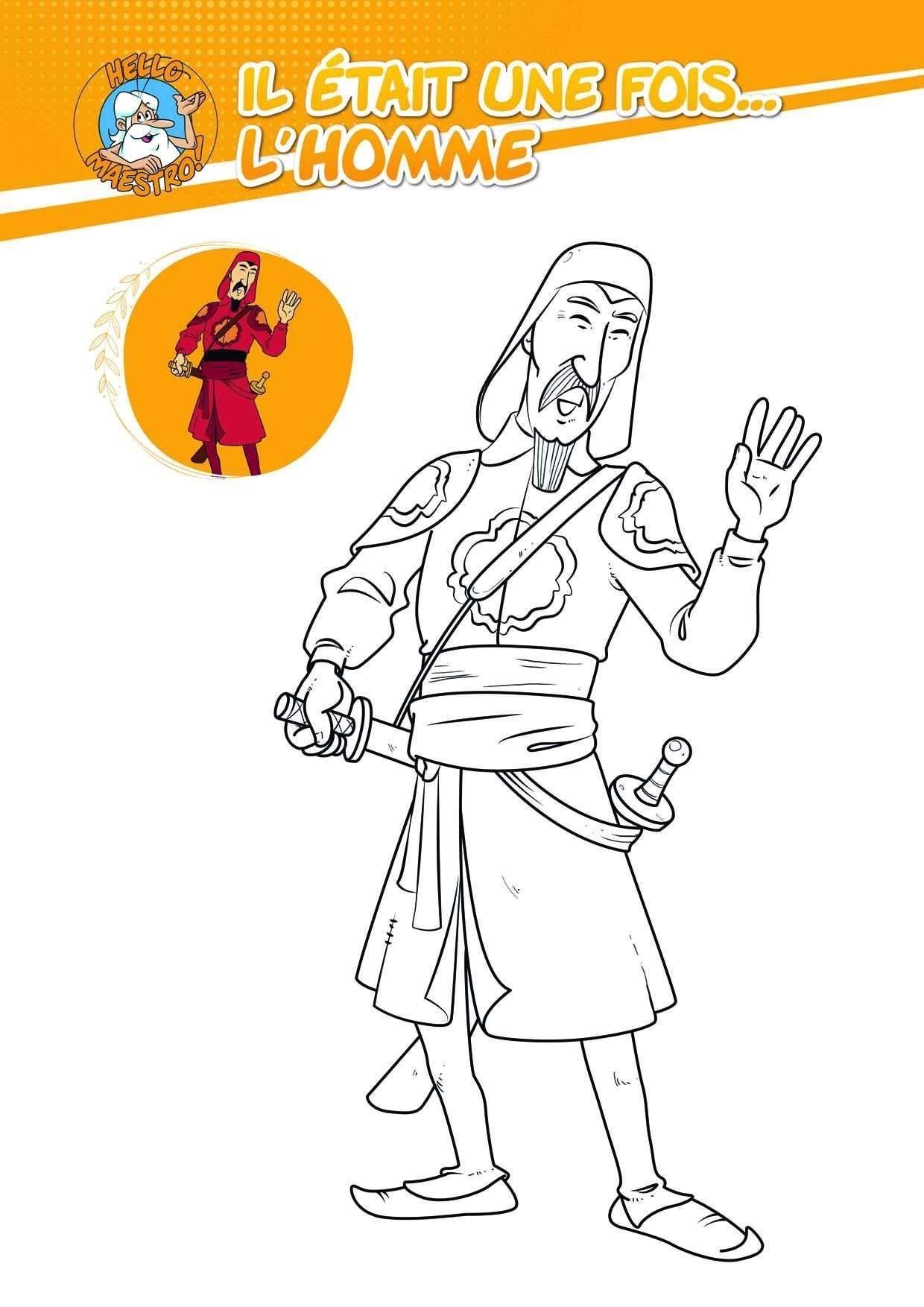 Coloriage Le Samourai Coloriage Hello Maestro Il Etait Une Fois L Homme Coloriages Dessins Animes