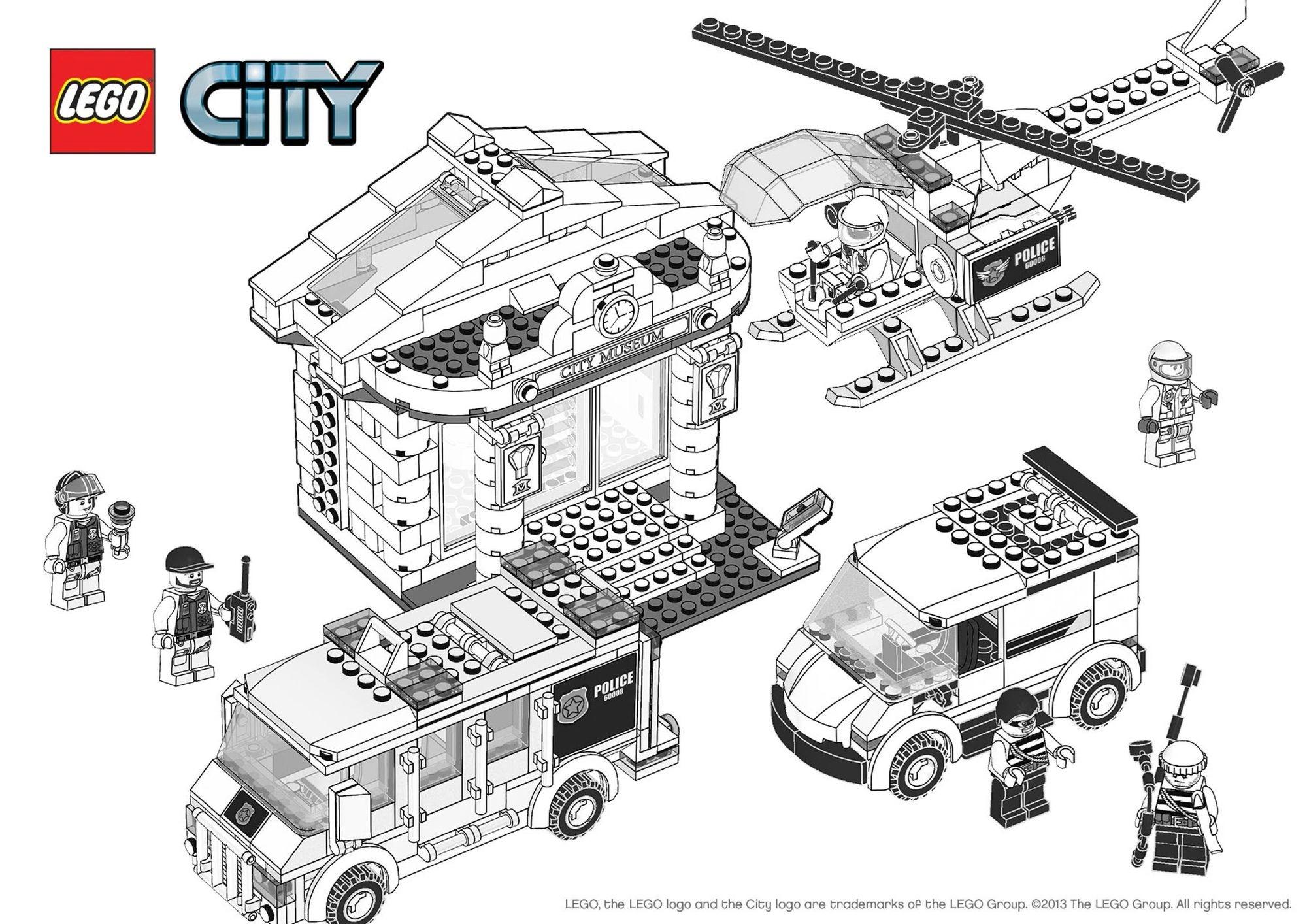 Coloriage Lego City Le Cambriolage Du Musee Coloriage Lego City Coloriages Dessins Animes
