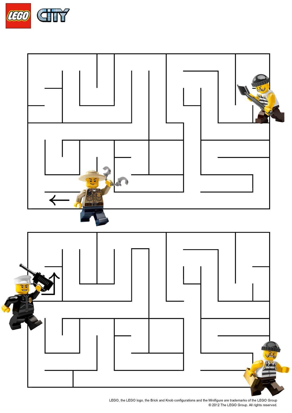 Coloriage Lego City Le Labyrinthe Coloriage Lego City