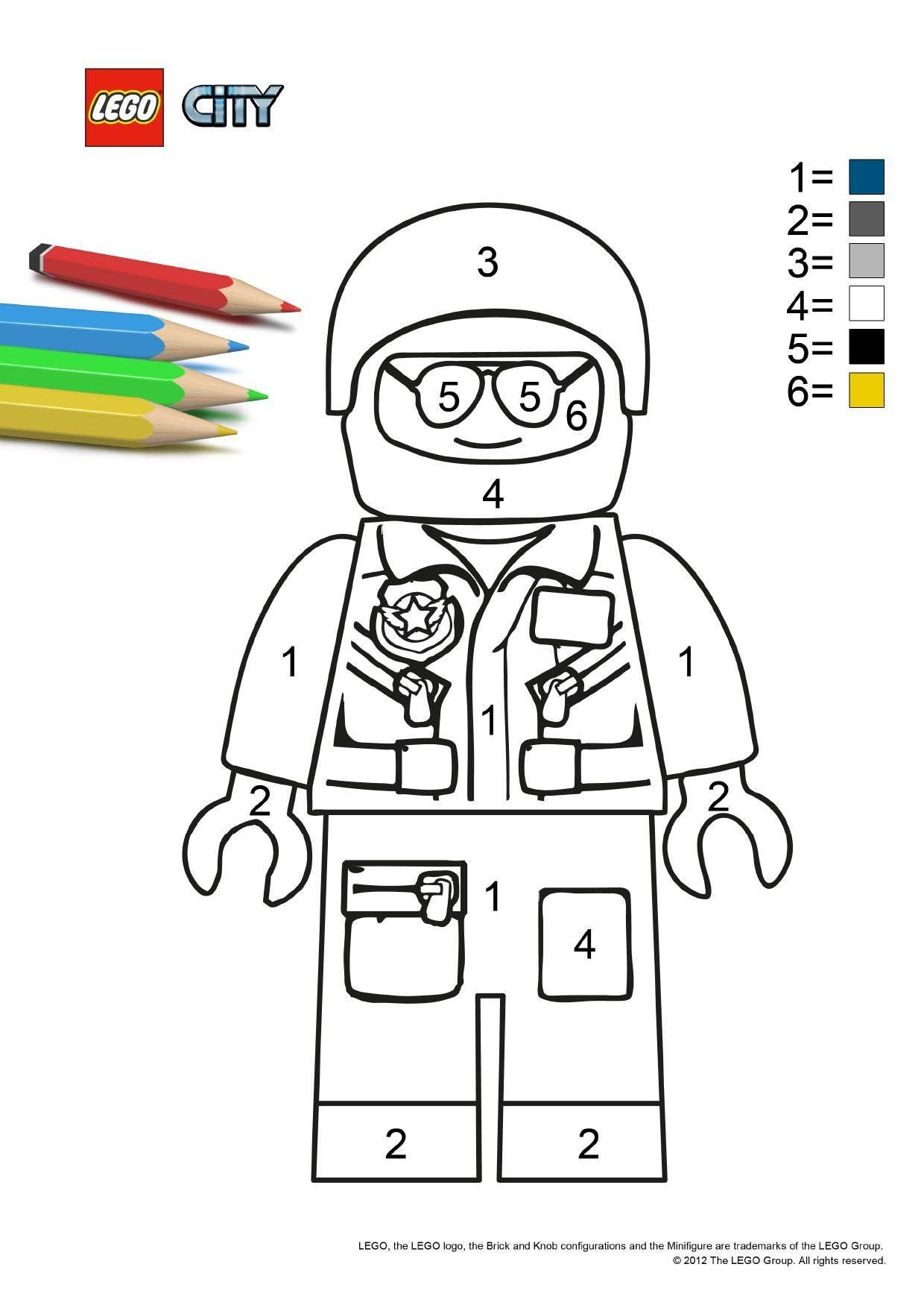 Coloriage Lego City Le Policier Coloriage Lego City