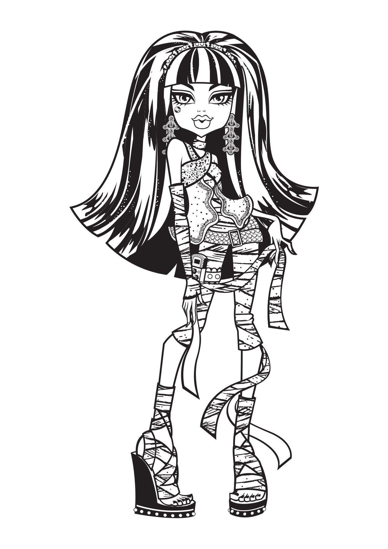 Coloriage Cleo De Nile Coloriage Monster High Coloriages Dessins Animes
