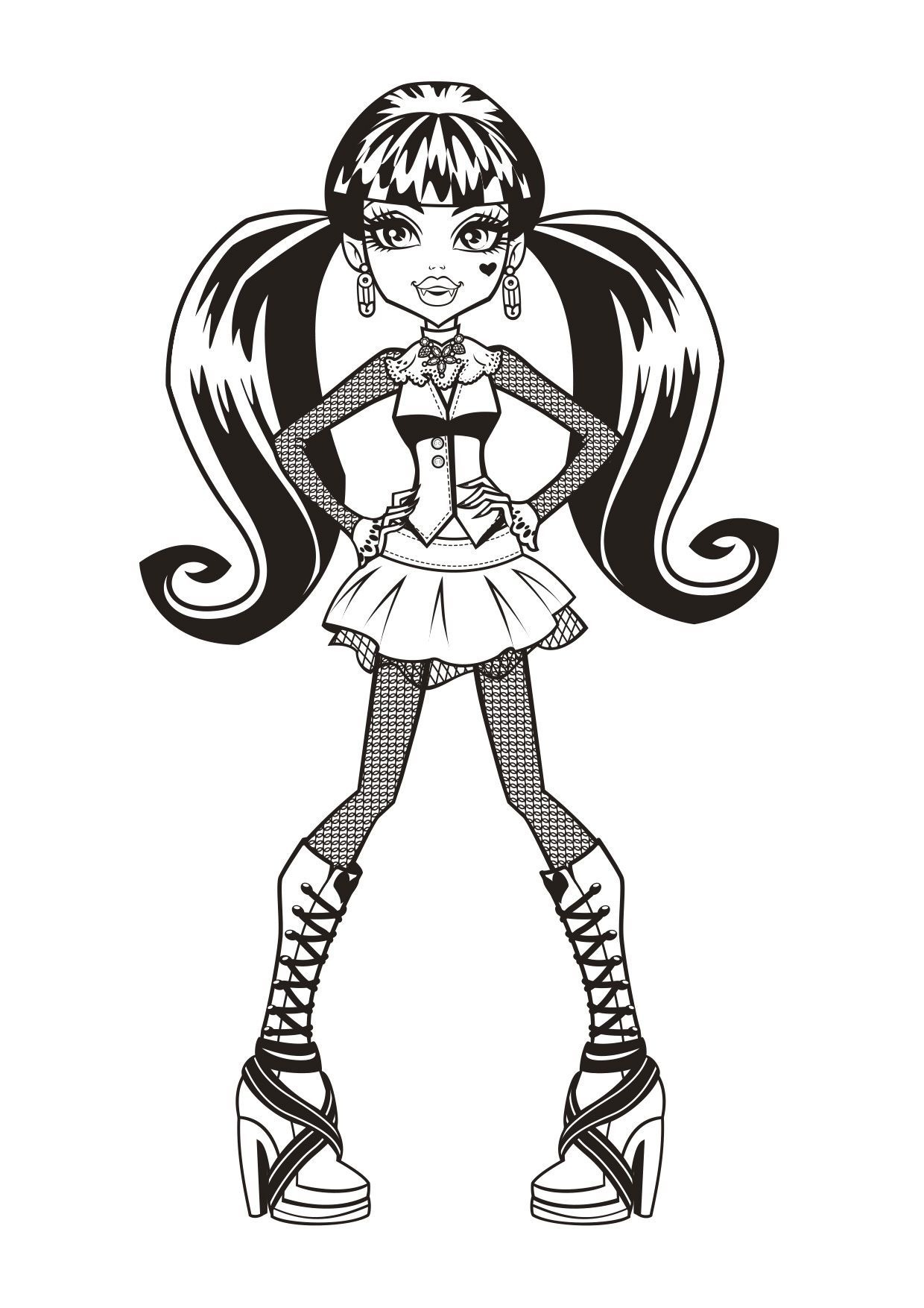 Coloriage Draculaura Coloriage Monster High Coloriages Dessins