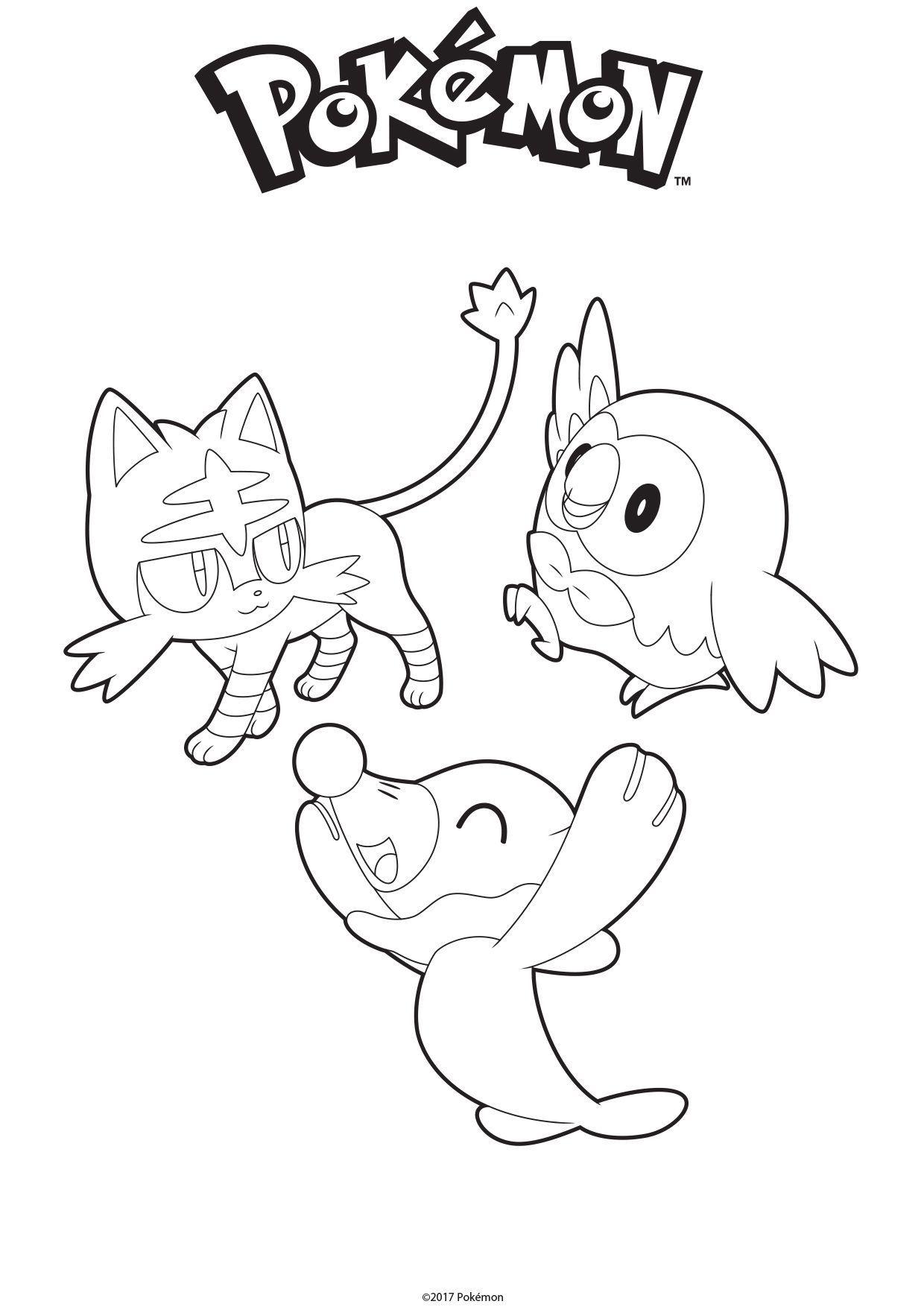 Coloriage Brindibou Otaquin Et Flamiaou Coloriage Pokemon