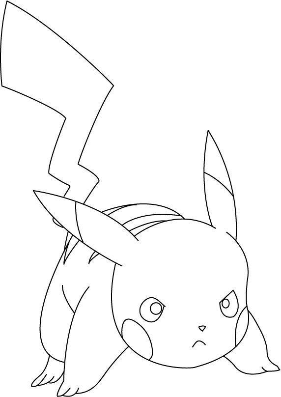 Coloriage Pikachu Coloriage Pokemon Coloriages Dessins Animes