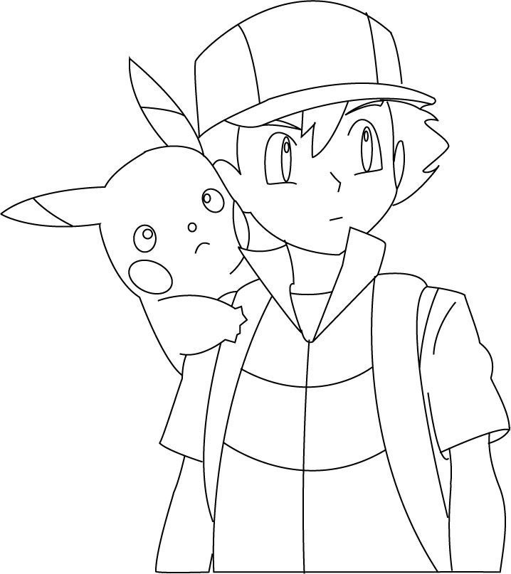 Coloriage Sacha Coloriage Pokemon Coloriages Dessins Animes
