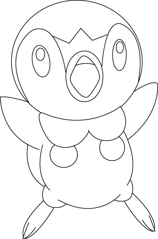 Coloriage Tiplouf Coloriage Pokemon Coloriages Dessins Animes