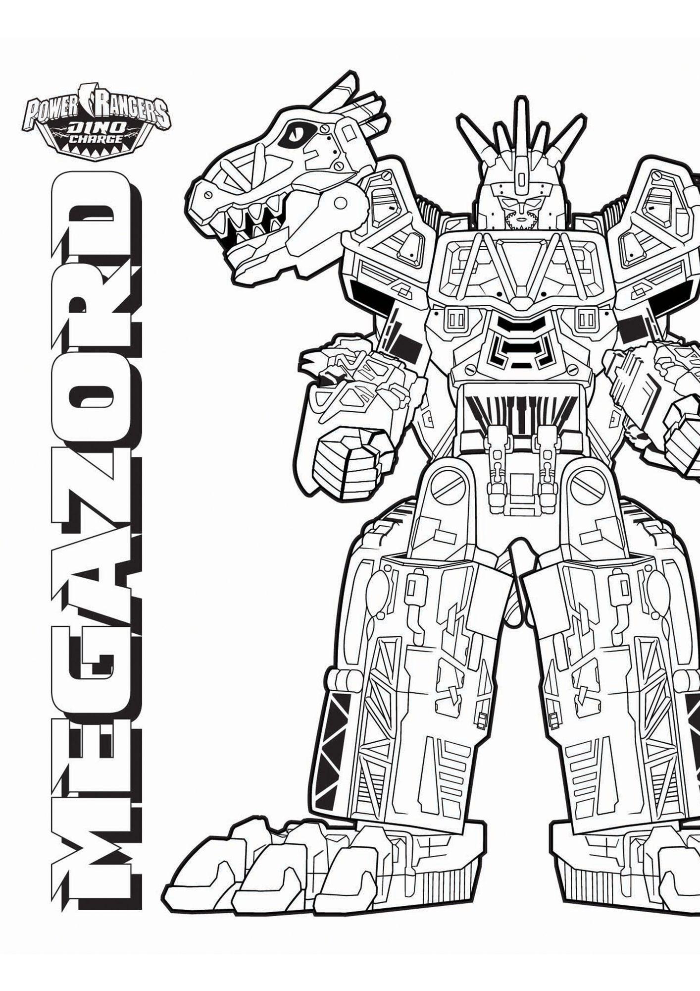 Coloriage Megazord Coloriage Power Rangers Dinocharge Coloriages Dessins Animes