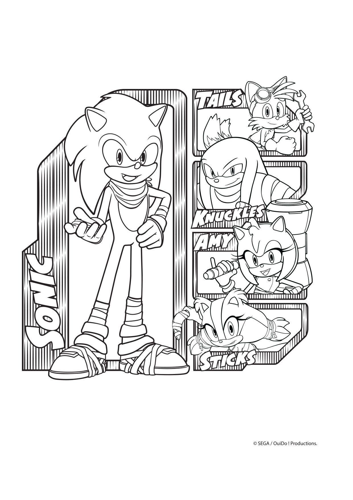 Coloriage Sonic et son équipe   Coloriage Sonic Boom   Coloriages ...