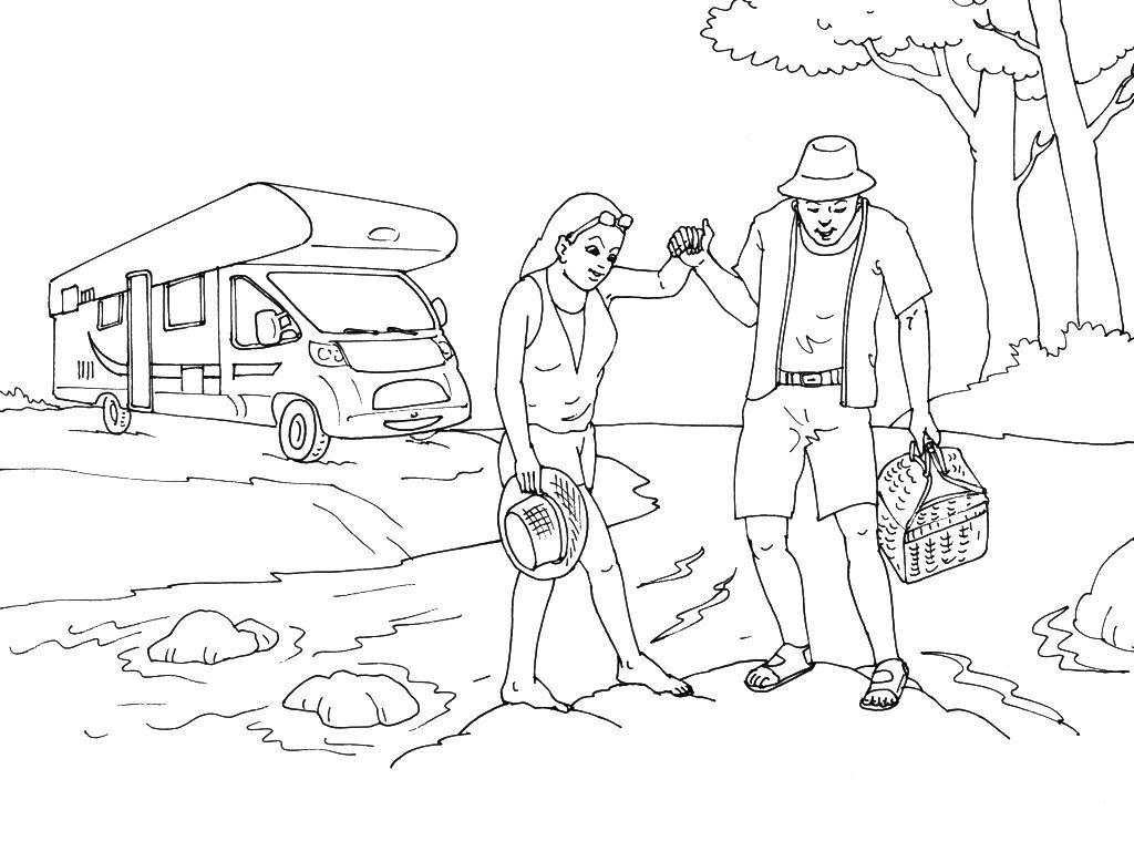 Coloriage De Camping Car A Imprimer Gratuit.Coloriage Camping 15 Coloriage Camping Coloriages Divers