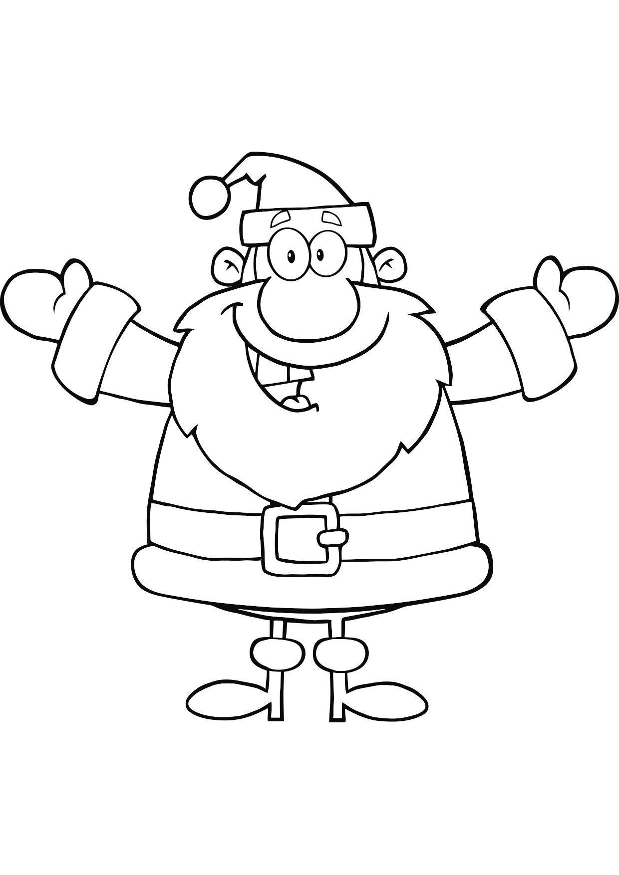 Coloriage Noël : le Père Noël   Coloriage Noel   Coloriages Fetes