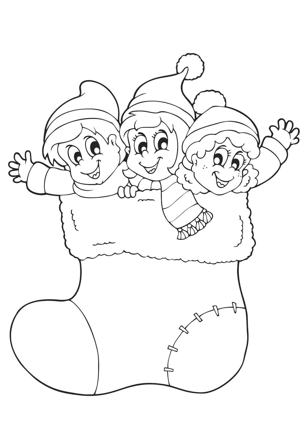 Coloriage Noël Les Lutins Du Père Noël Coloriage Noel