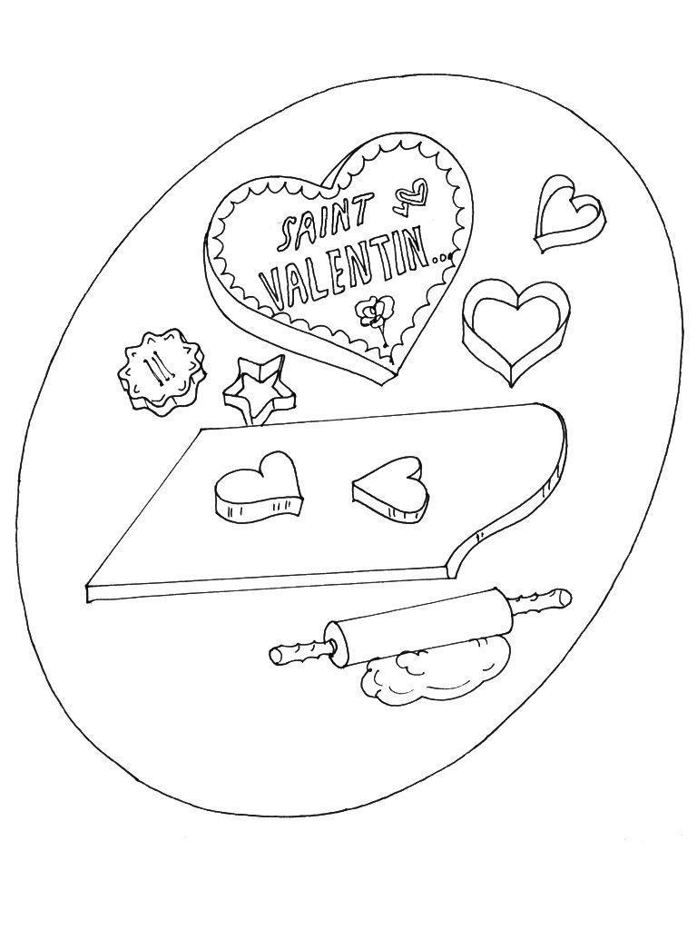 Coloriage Saint Valentin 13 Coloriage Saint Valentin Coloriages Fetes