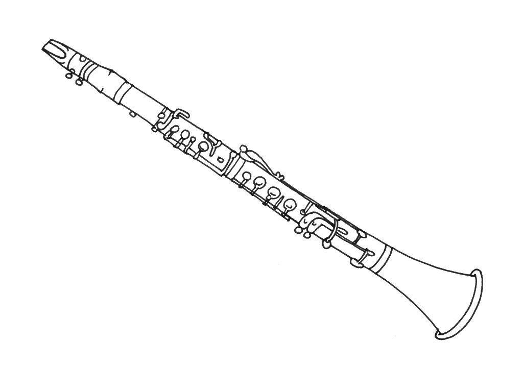 Coloriage La Clarinette Coloriage Instruments Coloriages Musiques