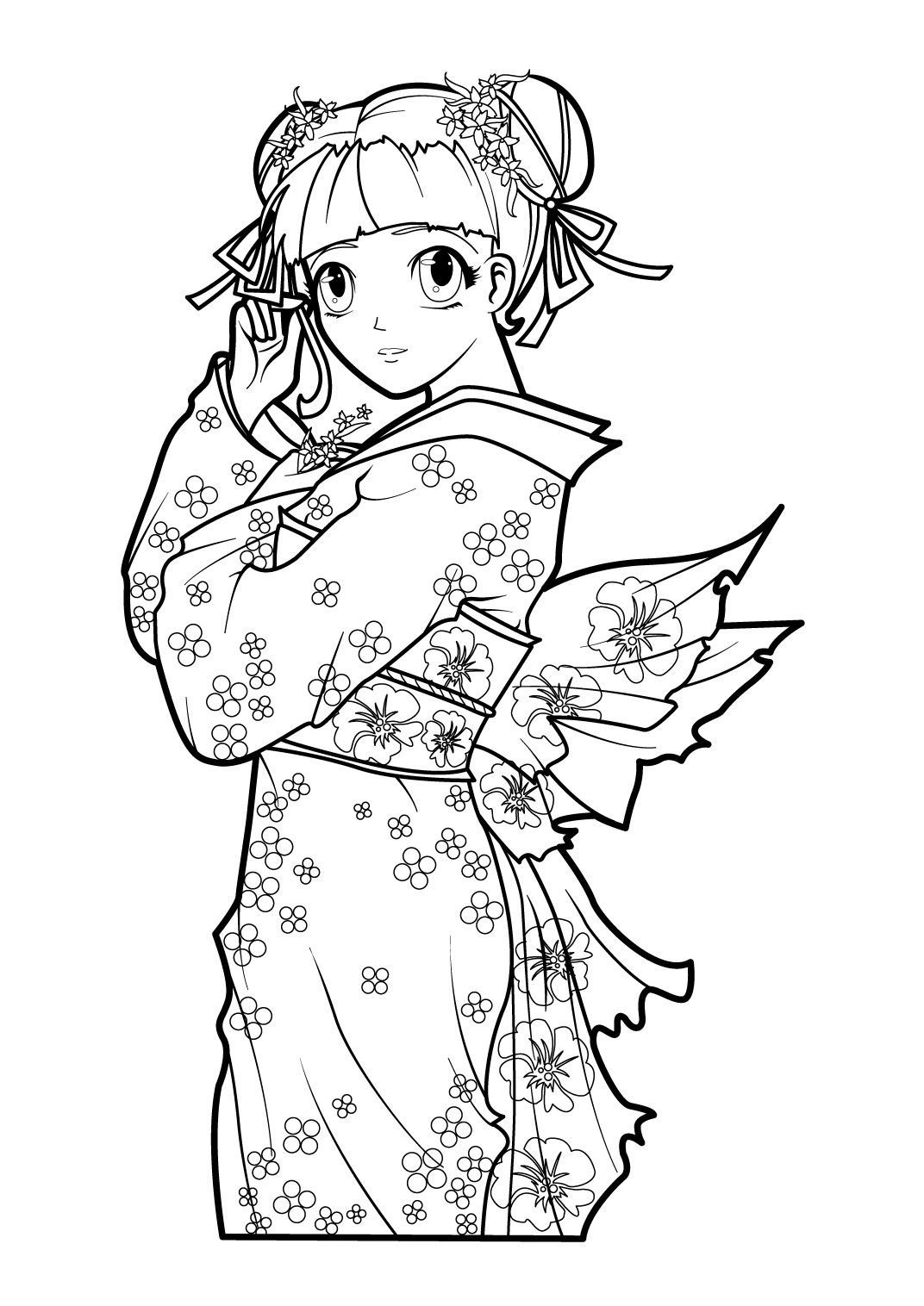 Coloriage Manga 1 Coloriage Mangas Coloriages Personnages