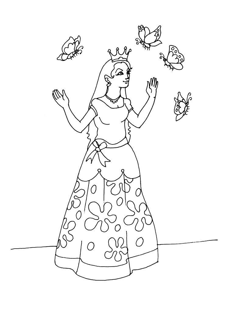 Coloriage Princesse 13 Coloriage Princesses Coloriages Personnages