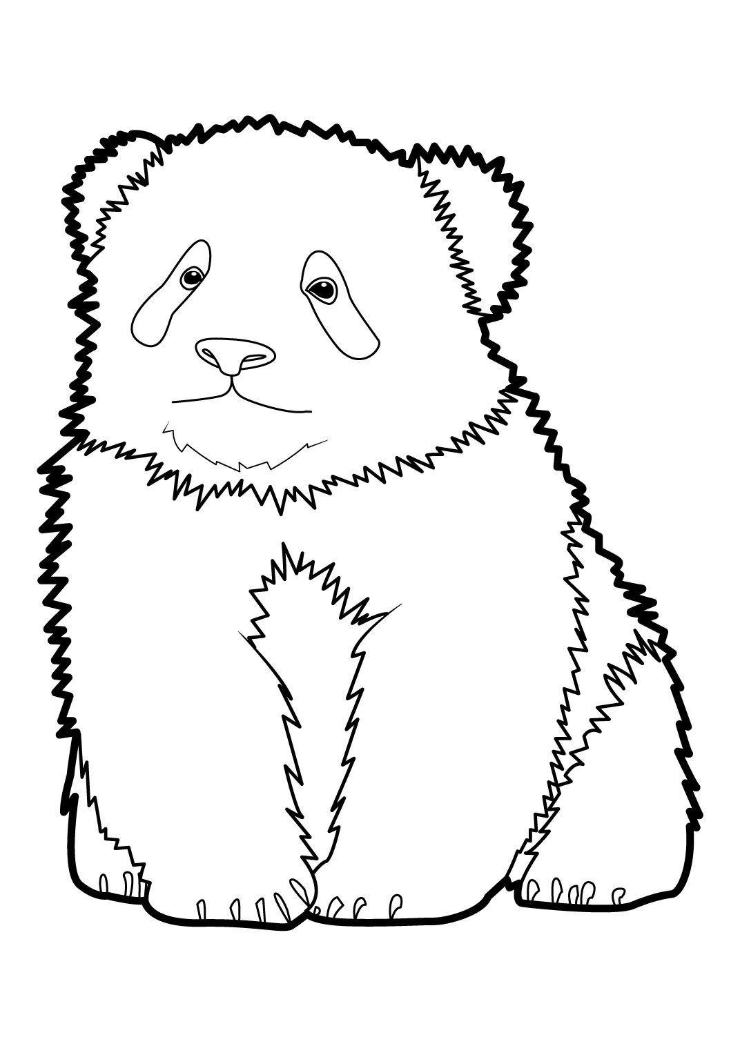 Coloriage Panda 10 - Coloriage Pandas - Coloriages Animaux
