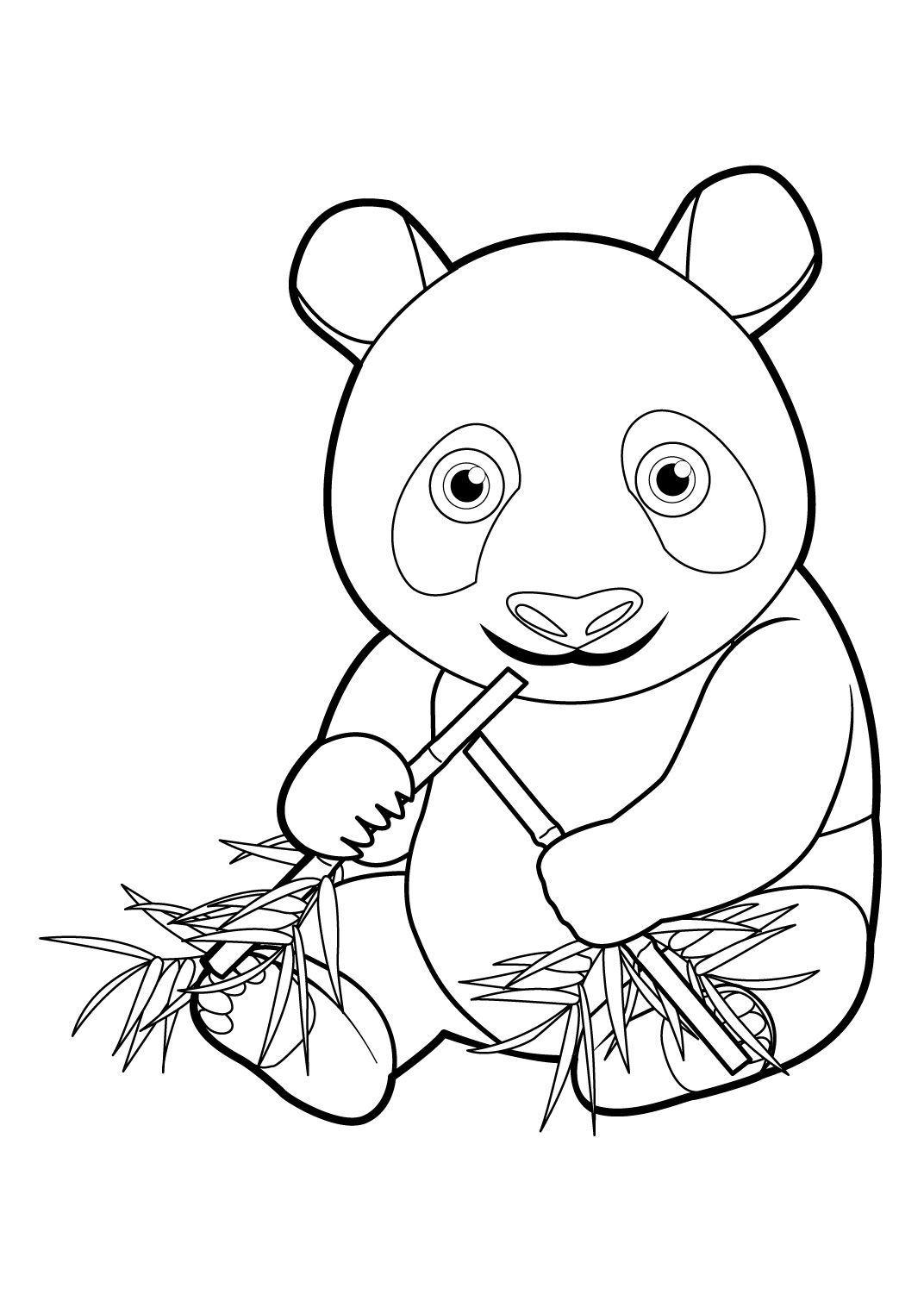 Coloriage Panda 16 - Coloriage Pandas - Coloriages Animaux
