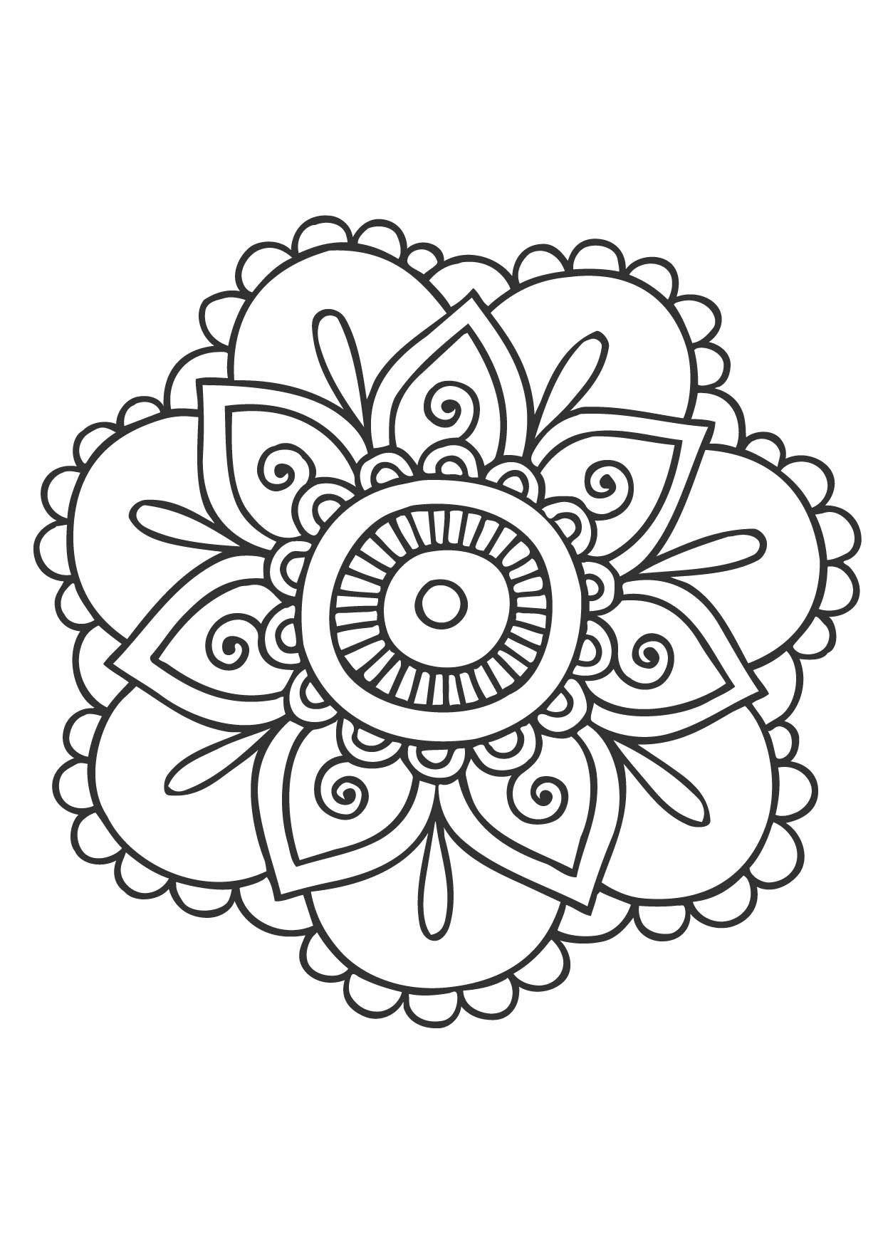 Coloriage Mandala fleur 2 - Coloriage Mandalas ...