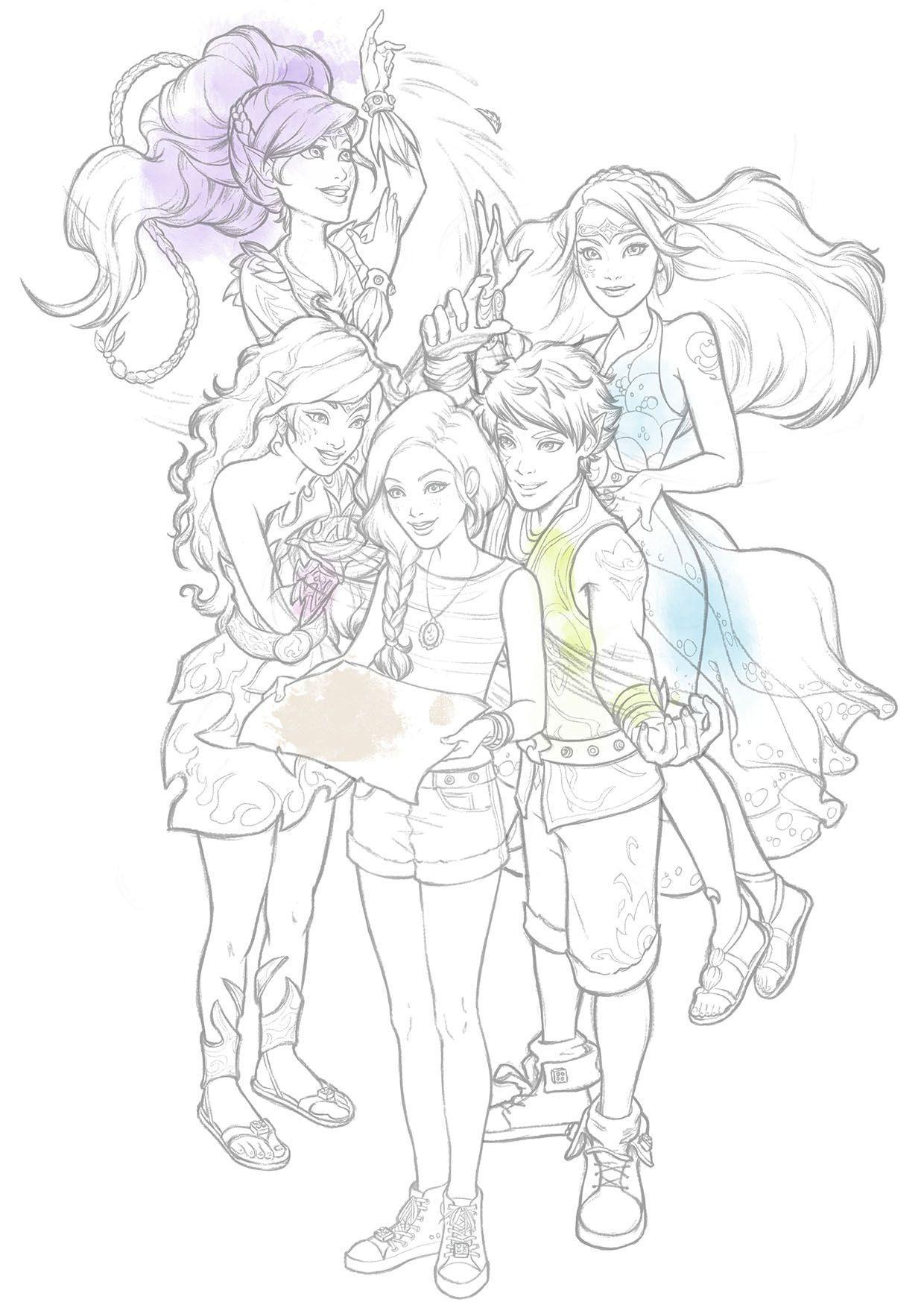 coloriage elves tous unis coloriage elves