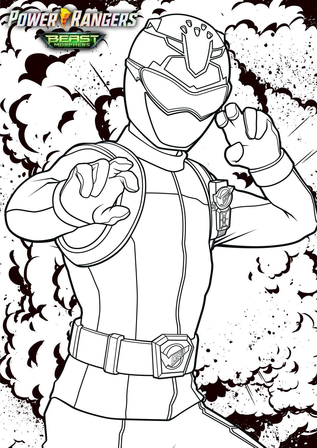 Coloriage Devon - Coloriage Power Rangers Beast Morphers ...