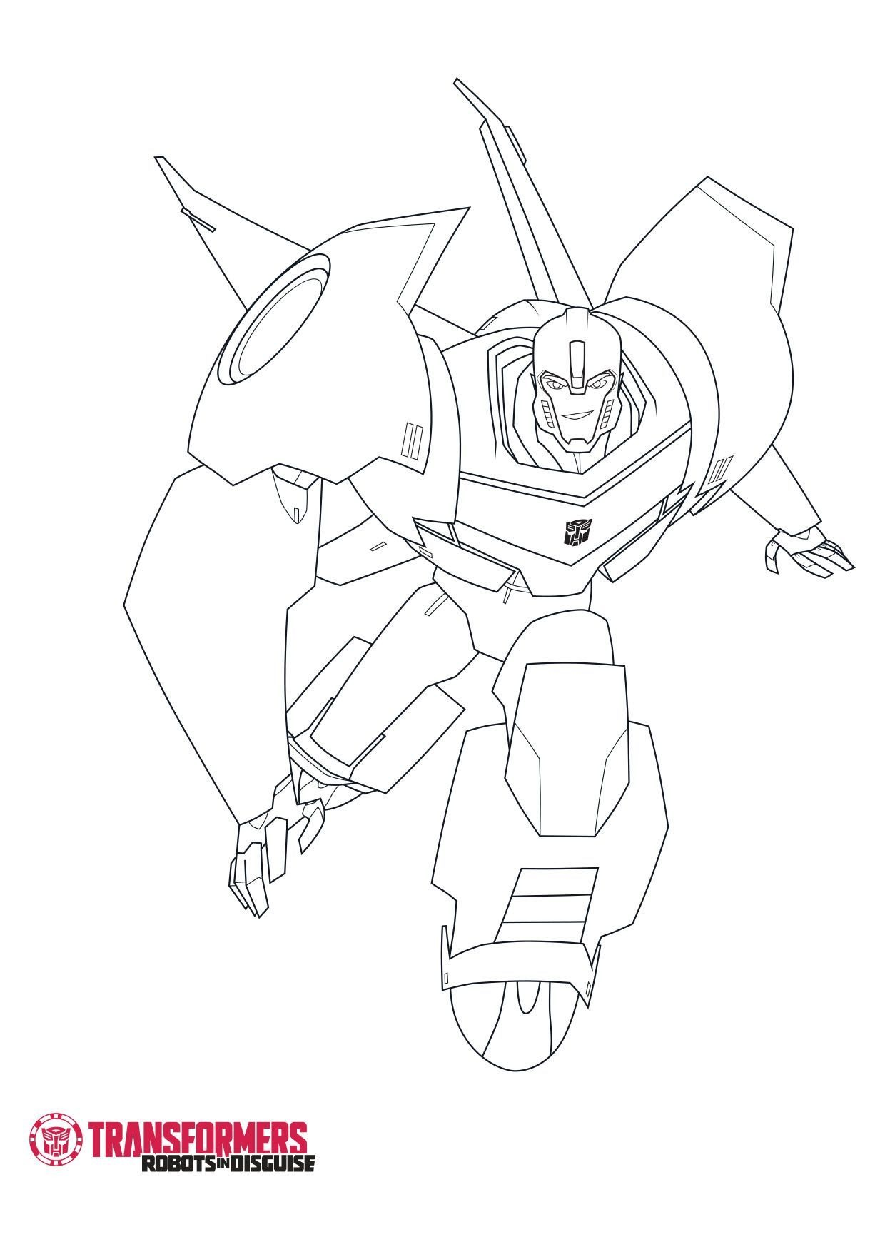 Coloriage Bumblebee 4 - Coloriage Transformers Robots in ...