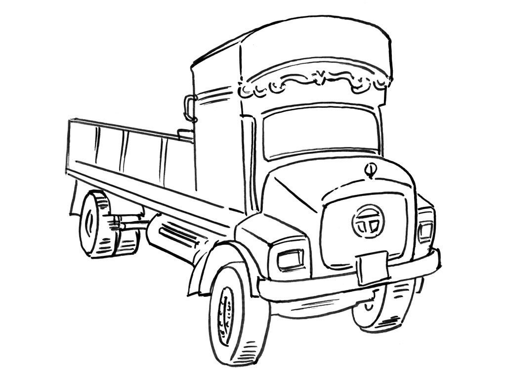 Coloriage Camion 13 - Coloriage Camions - Coloriages ...
