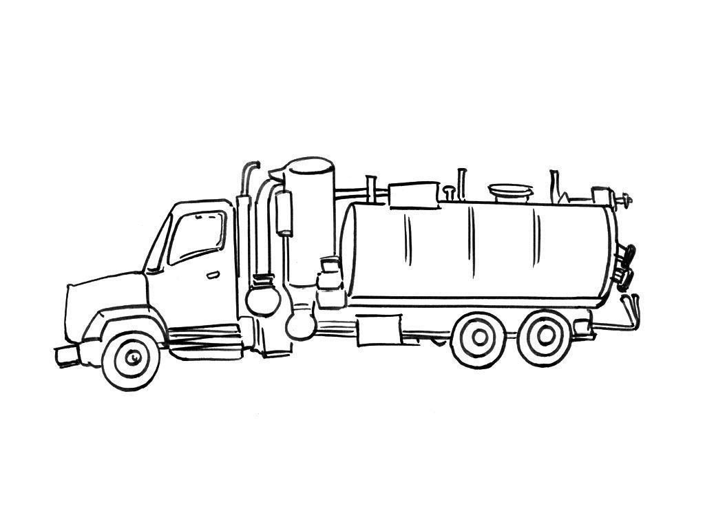 Coloriage Camion 5 - Coloriage Camions - Coloriages Transports