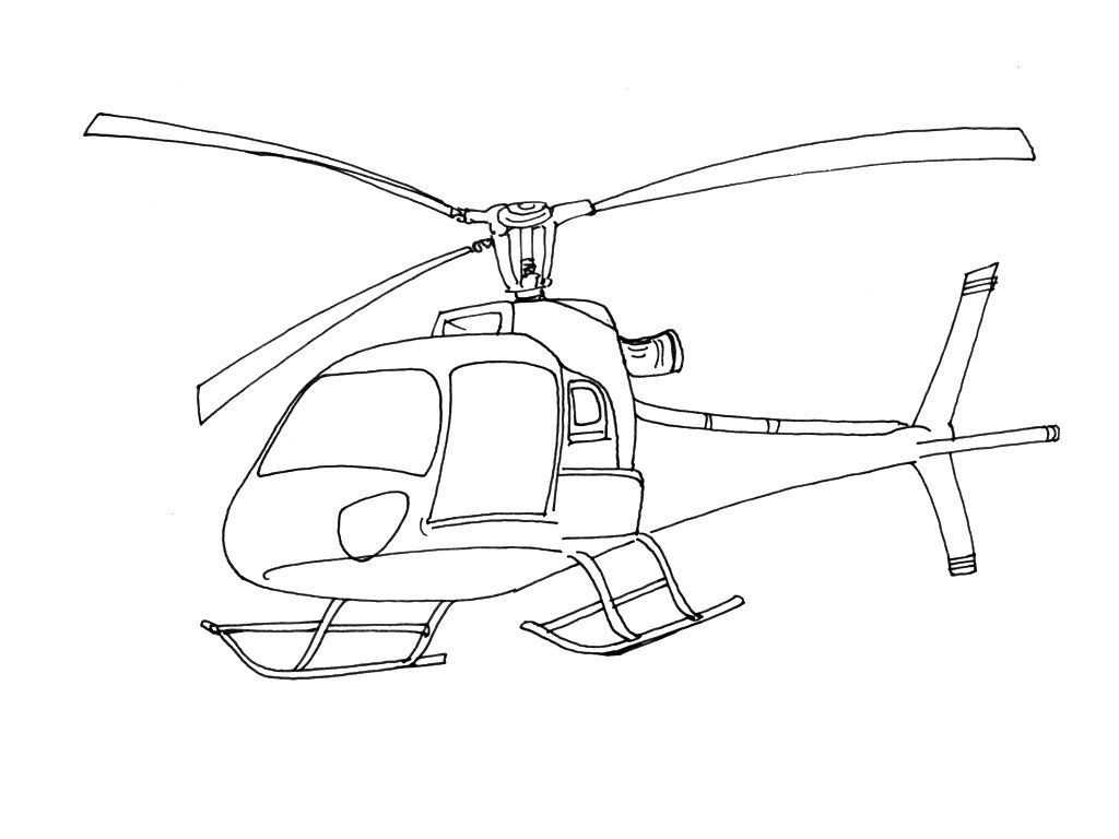 Coloriage Hélicoptère 5 - Coloriage Helicopteres ...