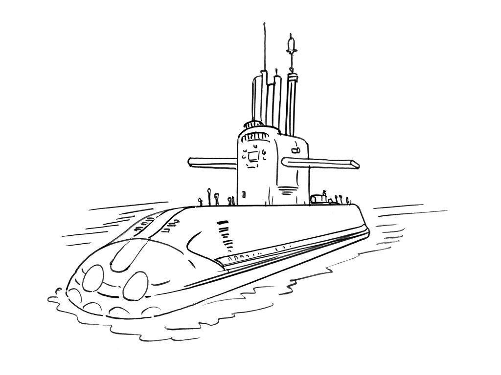 Coloriage Sous-marin 13 - Coloriage Sous marins ...